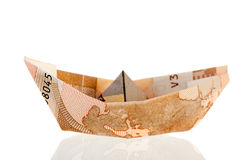 Boat from bank notes Stock Image