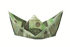 Boat of banknotes Royalty Free Stock Photo