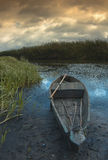 Boat on the banks of the Narew Stock Image