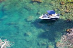 Boat in a Bay Royalty Free Stock Images