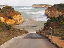 Boat Bay boat ramp at The Bay of Islands. The Boat Ramp at the Boat Bay, Bay of Islands off the Great Ocean Road in Victoria. This boat ramp is incredibly steep Royalty Free Stock Image