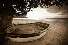 Boat on a beach Royalty Free Stock Images