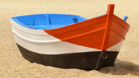 Boat on Beach. Traditional fishing boat on beach Royalty Free Stock Photo