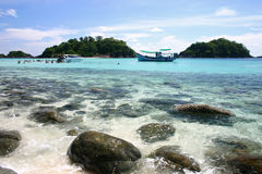 Boat in the Beach. Thailand Royalty Free Stock Photo