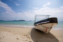 Boat on Beach Stock Images