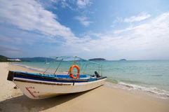 Boat on Beach Stock Photography