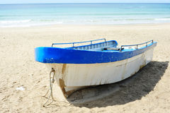 Boat At The Beach Stock Image