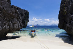 Boat at beach Stock Image