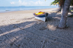 Boat  and  beach Stock Photography