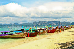 Boat and beach Royalty Free Stock Photo