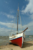 Boat in the beach. Boat moored in the beach Royalty Free Stock Photos