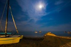 Moonlight Beach Stock Photography