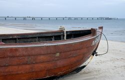 Boat at the beach Royalty Free Stock Photography