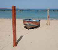 Boat on Beach Royalty Free Stock Images