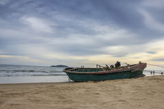 A boat on the beach Royalty Free Stock Image