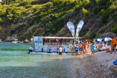 Boat beach bar. stock photos