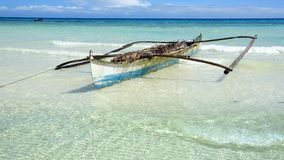 Boat on a beach, Bohol Island, Philippines Royalty Free Stock Images