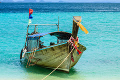 Boat on Beach. Fishing boats in southern Thailand Stock Images