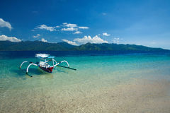 Boat at the beach Gili Trawangan, North Lombok, Indonesia, Asia Royalty Free Stock Photography