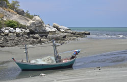Boat on the beach, Huahin Thailand Stock Images
