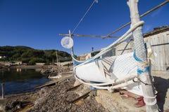 Boat on a beach, Ibiza Stock Photos