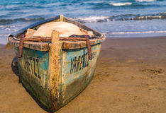 Boat on the beach. A  boat on a the beach in Mexico Royalty Free Stock Photos
