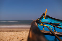 Boat on beach Royalty Free Stock Photos