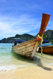 Boat on the Beach, Phuket Stock Photography