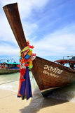 Boat on the Beach, Phuket Royalty Free Stock Photography