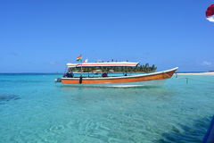 Boat in a beach of San Blas archipelago, Panamá Stock Images