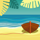 Boat on beach Royalty Free Stock Photography
