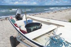 Boat on beach Stock Image