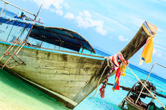 Boat on Beach. In South thailand Royalty Free Stock Images