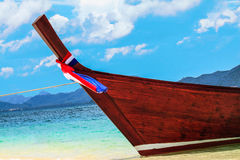 Boat on Beach. In South thailand Stock Images