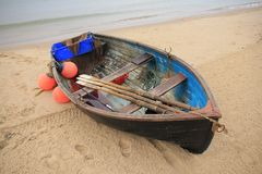 Boat on the beach. Royalty Free Stock Photo