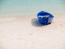 Boat on beach in summer season Royalty Free Stock Photography