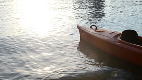 Boat on a beach stock footage