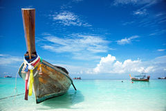 Boat and beach of THAILAND Stock Photo