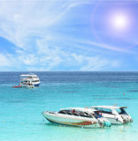 Boat beach tropical Stock Image