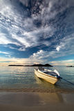 Boat on the beach. Royalty Free Stock Photos
