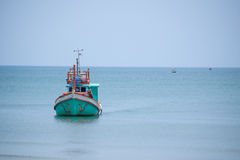 Boat. The beach is very comfortable afternoon Royalty Free Stock Photography