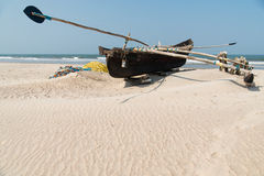 Boat on the beach. Wooden fishing Boat on the beach Royalty Free Stock Photo