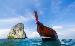Boat on the beautiful sea Stock Photos