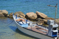 Boat. Beautiful boat on the shore Stock Image