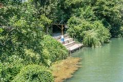 Boat berth on the Vulan river royalty free stock image