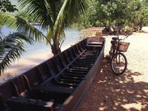 Boat and Bicycle Stock Photography