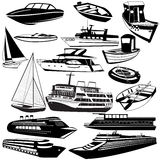 Boat black icons Stock Images