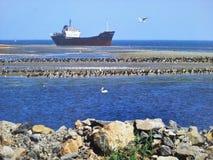 Boat in Black Sea Stock Images