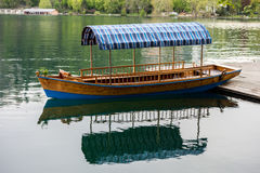 Boat on a Bled lake Royalty Free Stock Photo