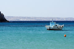 Boat on the blue sea Royalty Free Stock Photos